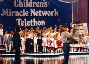 Danny singing in the Children's Miracle Network Telethon.
