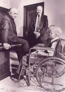 Danny with Utah Governor, Norman Bangerter (left).